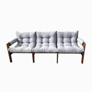 Mid-Century 3-Sitzer Palisander Sofa