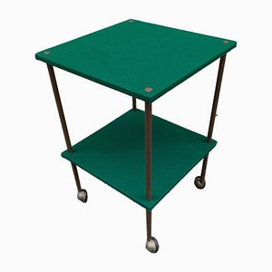 Model T9 Green Fabric Trolley by Luigi Caccia Dominioni for Azucena, 1950s