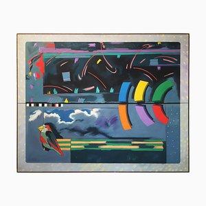 Wise Bird Strategy Gemälde von Richard Frank, 1980er