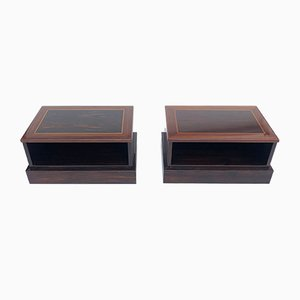 Lacquered Macassar Side Tables by Paolo Barracchia for Roman Deco, 1970s, Set of 2