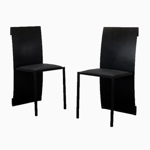 Postmodern Side Chairs, 1980s, Set of 2