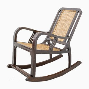 Indian Art Deco Rocking Chair, 1940s