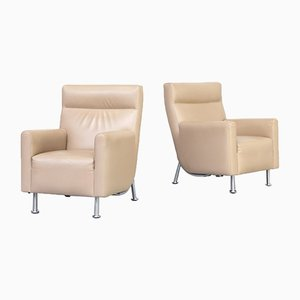 Leather Lounge Chairs from Leolux, 2000s, Set of 2
