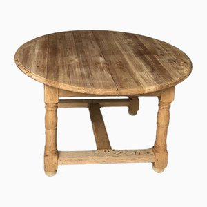 Round French Bleached Oak Farmhouse Table