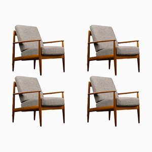Mid-Century Danish Teak Lounge Chairs by Grete Jalk for France & Søn / France & Daverkosen, 1960s, Set of 4