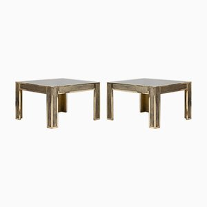 Mid-Century Modern Brass Side Tables, Set of 2