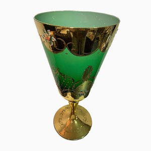 Murano Glass Vase with Ornaments in Gold and Enamel, 1950s