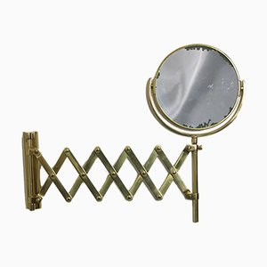 Mid-Century Brass Scissor Mirror