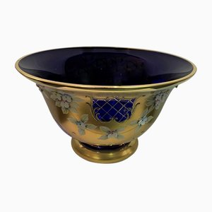 Murano Glass Fruit Bowl with Gold and Enamel, 1970s