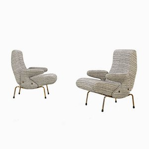 Mid-Century Delfino Lounge Chairs by Erberto Carboni for Arflex, Set of 2
