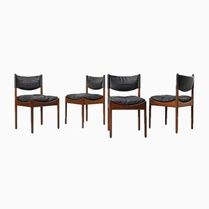 Rosewood Dining Chairs by Ane & Kristian Solmer Vedel for Søren Willadsen Møbelfabrik, 1960s, Set of 4