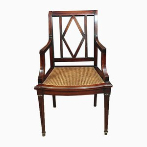 Louis XVI Mahogany and Marquetry Desk Chair