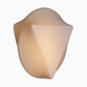 Vintage Milchglas Wandlampe für Außenbereich