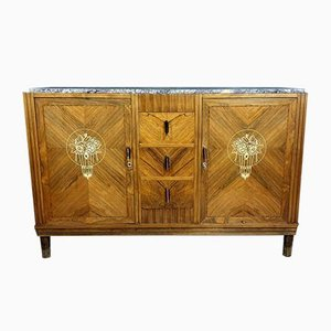 Antique Art Deco Marquetry Buffet