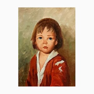 French School Painting by Louis Favre, Tearful Boy