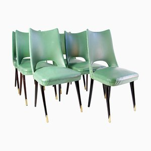 Midcentury Italian Dining Chairs, 1950s, Set of 6