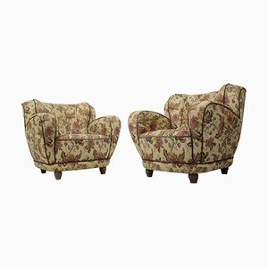 Art Deco Club Armchairs, 1930s, Set of 2