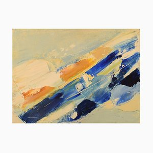 Schwedische Abstrakte Komposition Öl auf Leinwand von Hugo Ståhle, 1960er