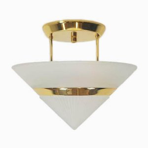 Vintage Spanish Gilded Ceiling Lamp from Fadalesa & Idearte, 1980s