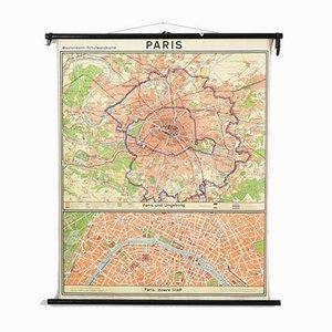 Vintage Paris Map from Westermann, 1960s