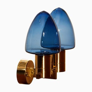 Wall Light Sconce in Brass by Hans-Agne Jakobsson for Markaryd, Sweden, 1960s