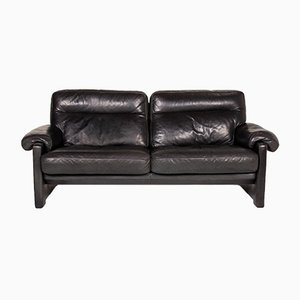 Dark Green Leather DS 70 3-Seat Sofa from de Sede