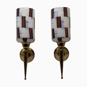 Pezzato Wall Lights by Ercole Barovier for Barovier & Toso, 1950s, Set of 2