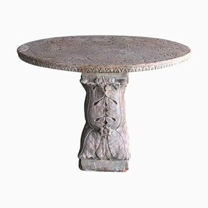 17th Century Oval Rosso Verona Marble Table