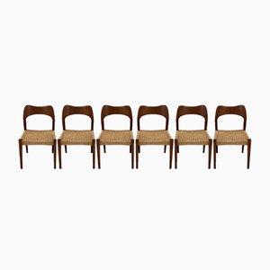 Danish Teak Dining Chairs by Arne Hovmand Olsen for Mogens Kold, Set of 6