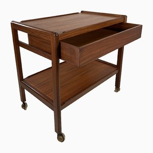 Teak Drinks Trolley with Drawer, 1960s