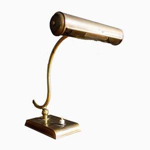 Brass Bank Lamp, 1930s