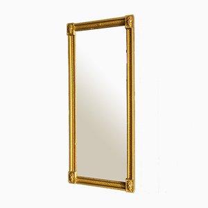Antique Mirror with Gold Trim