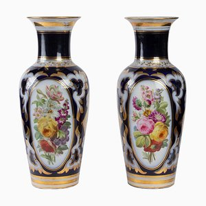 19th Century Napoleon III Porcelain Vases, Paris, Set of 2