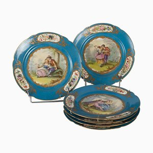 19th Century Porcelain Plates from Sèvres, Set of 6