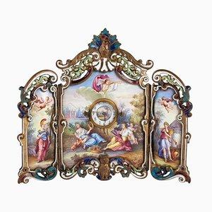 Small Louis XV Miniature Screen in Gilded Bronze