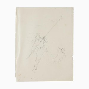 Figures Studies - Original Pencil Drawing - 20th Century 20th Century