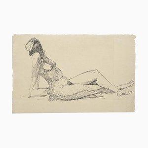 Akt - Original Federzeichnung - 20. Jahrhundert 20. Jahrhundert