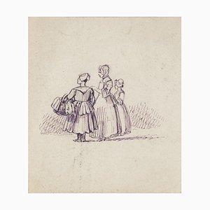 Figures - Original Drawing - 20th Century 20th Century