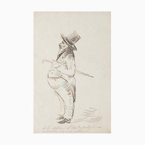 Caricature - Original Pen Drawing - 20th Century 20th Century
