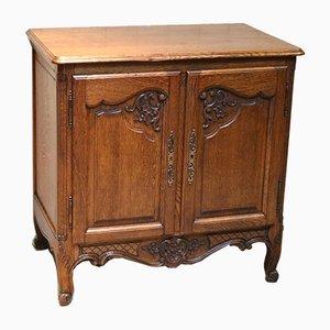 Vintage French Oak Side Cabinet, 1950s
