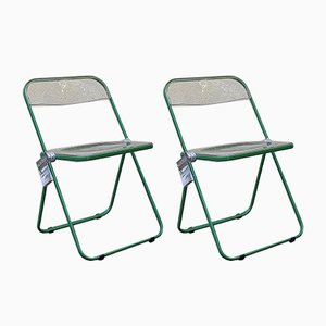 Modern Plia Folding Chairs by Giancarlo Piretti for Castelli, 1960s, Set of 2
