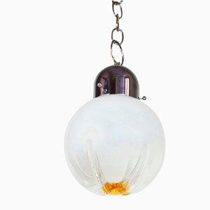 Mid-Century Italian Murano Glass Flower Globe Pendant Chandelier from Mazzega, 1960s