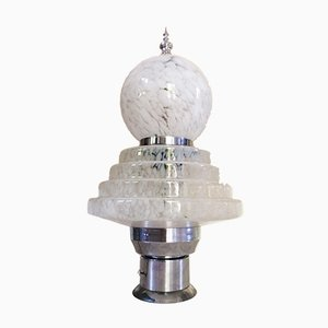 Italian Murano Glass 2-Tier Floor or Table Lamp by Carlo Nason for Mazzega, 1970s