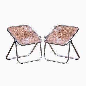 Chaises Pliantes Plona Modernes Mid-Century par Giancarlo Piretti pour Castelli, Italie, 1970s, Set de 2