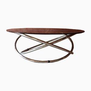 Mid-Century Italian Minimal Glass & Chrome MAC Coffee Table from Miniforms, 1970s