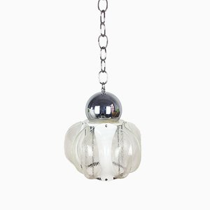 Mid-Century Italian Murano Glass Ceiling Lamp from Mazzega, 1970s