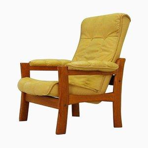 Scandinavian Leather Armchair, 1970s
