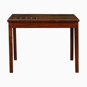 Table Basse Vintage en Palissandre et en Carreaux, Danemark, 1960s