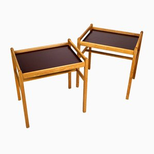 Oak Side Tables by Børge Mogensen for Fredericia, 1950s, Set of 2
