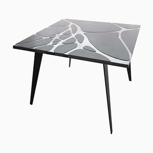 Filodifumo 4th Outdoor Table in Lava Stone and Steel by Riccardo Scibetta & Sonia Giambrone for MYOP